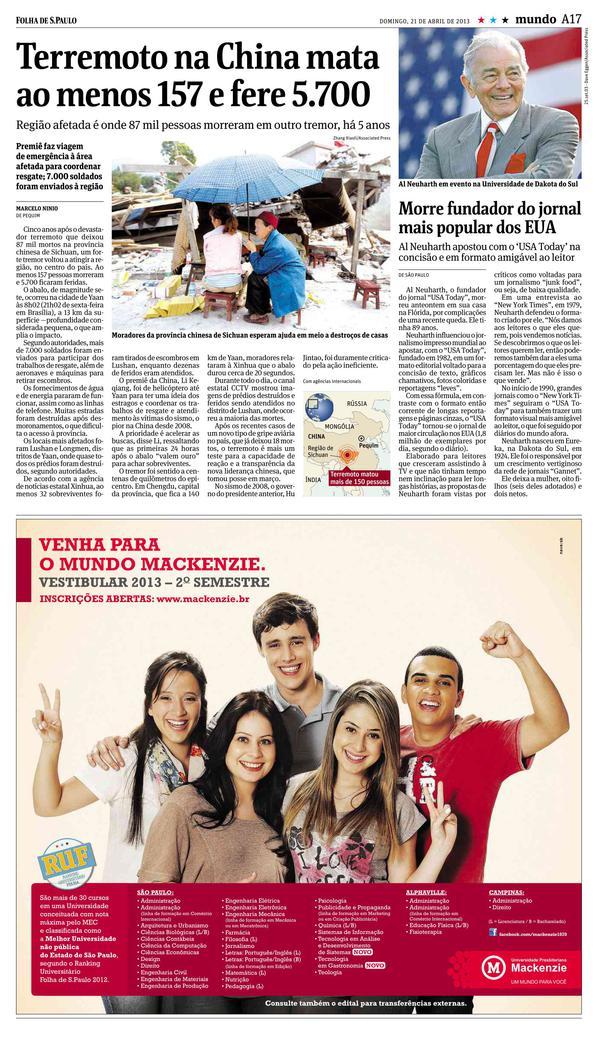 Jornal folha do sul online dating