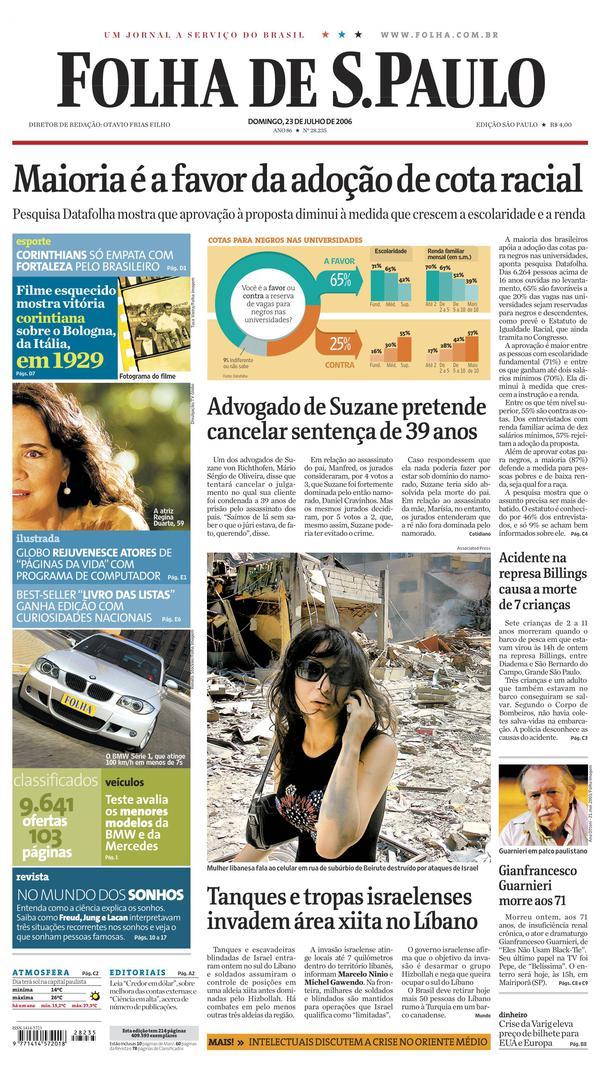 ea6a6613fc Edição Digital - Folha de S.Paulo - Pg 1